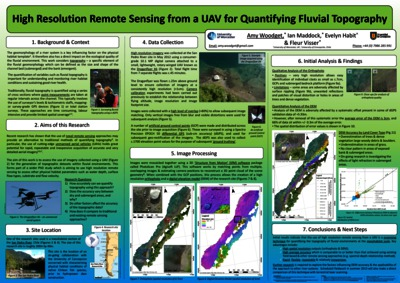 High Resolution Remote Sensing from a UAV for Quantifying Fluvial